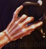 paint Halloween skeleton hands
