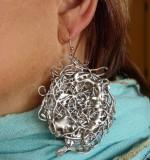 molten silver earring