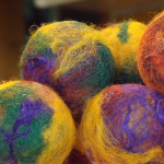 felted ping pong balls