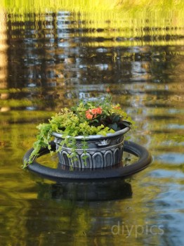 Homemade floating garden