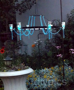 make your own solar chandelier